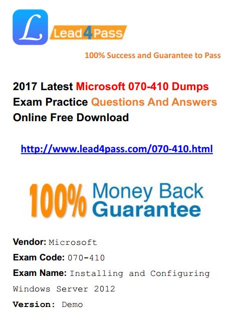 070-410 dumps