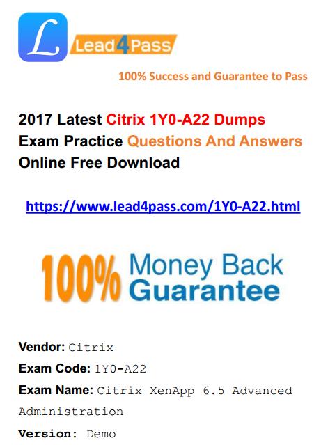 1Y0-A22 dumps