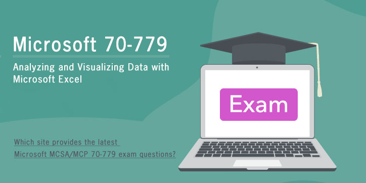 Which site provides the latest Microsoft MCSA/MCP 70-779 exam questions?
